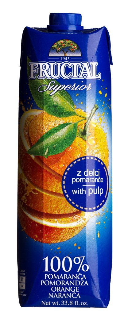 Fructal Pomaranč 100% 1l Prisma
