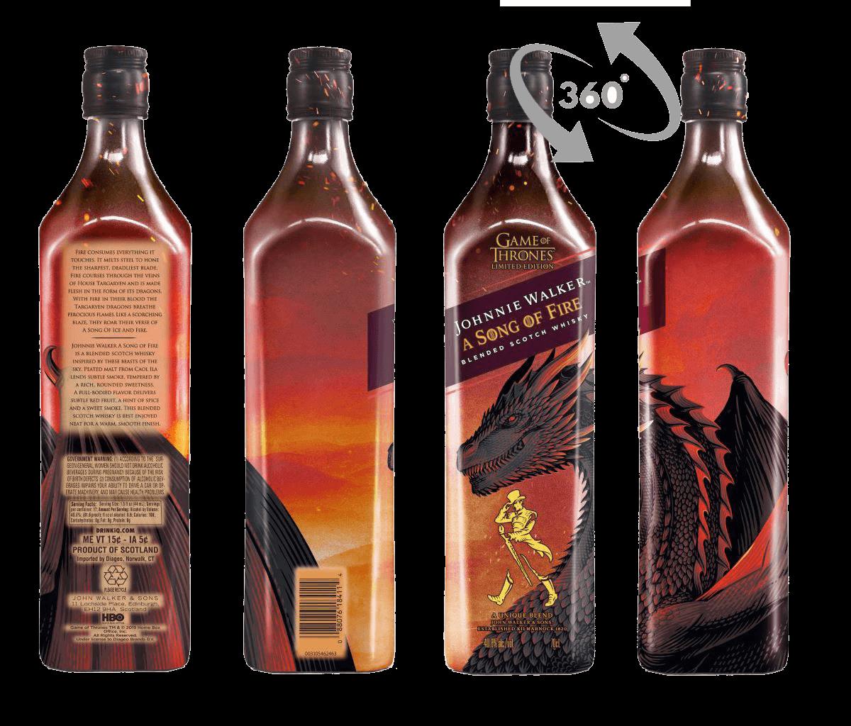 Whisky Johnnie Walker Got Song Of Fire 40,8% 0,7l