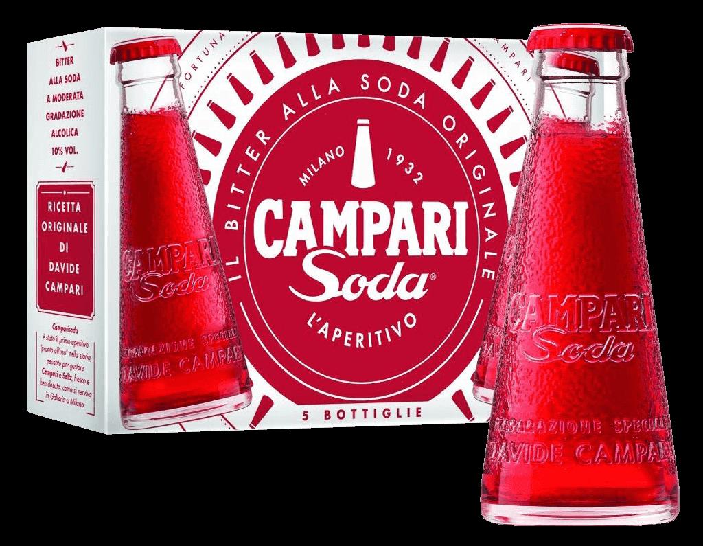 Miešaný Nápoj Campari Soda 10% 5x0,098l 5-pack