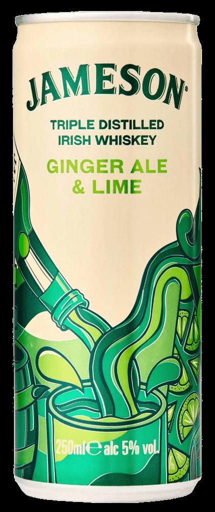 Miešaný Nápoj Jameson Ginger Ale & Lime 5% 0,25l Plech